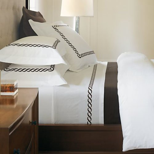 North Home Barcelona Duvet Cover Set in Chocolate Brown