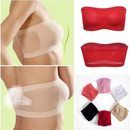 Sexy Women Tube Underwear Strapless Bandeau Crop Bra Intimates Clothes one size