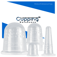 GRIP Classic 5 Body and Face Professional and Home User Massage Silicone Cupping Therapy Set by Cupping Warehouse TM:Online Video's,Cellulite, Trigger Point, Muscle, Lymph Drainage, Myofascial Release