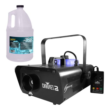 CHAUVET Hurricane H1301 Pro Fog/Smoke Machine + 1 Gallon FJU Fog Fluid & Remote
