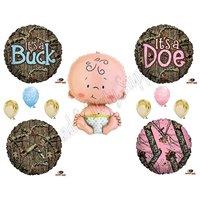 MOSSY OAK GENDER REVEAL CAMO DOE BUCK Balloons Decoration Supplies Baby Shower
