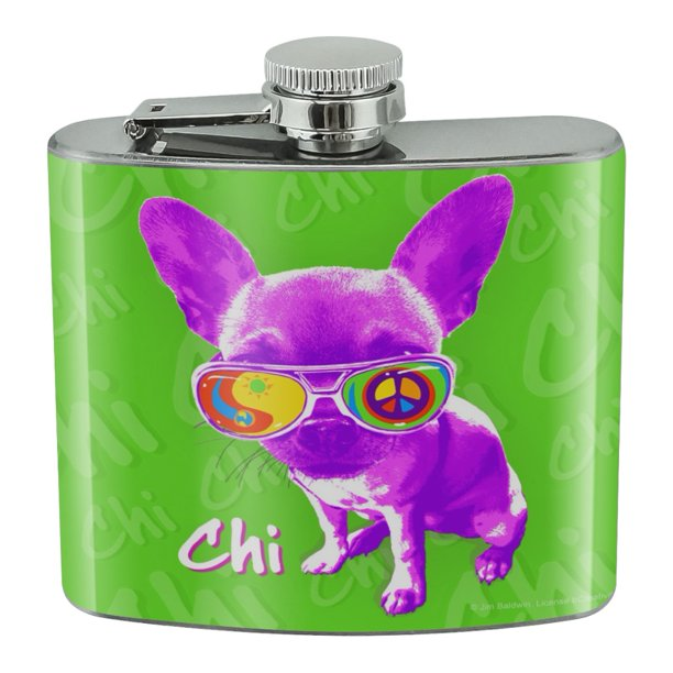 Chi Chihuahua Dog Sunglasses Vintage Retro Stainless Steel