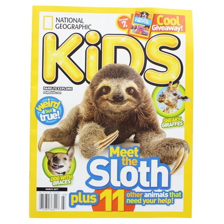Meet the Sloth March 2017 Kids Magazine