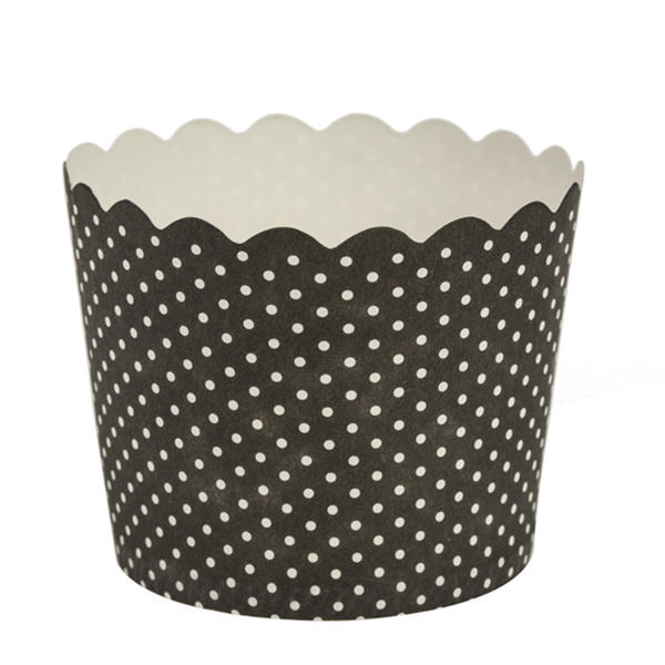 Simcha Collection Black Polka Dots Cupcake Wrappers Large/Case of 384