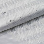 """Efavormart 54"""" x 4 yards Silver White SEQUINS Chevron Pattern Fabric BOLT Sewing"""