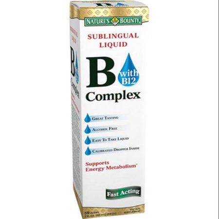 Nature's Bounty vitamine B complexe sublinguale liquide (2 oz Paquet de 6)