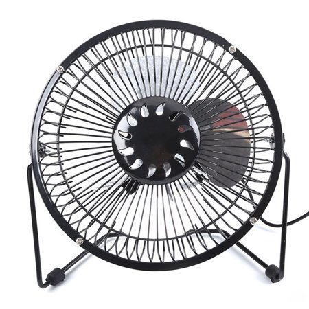 - Tuscom Battery Operated Recahrgeable Desk Fan for Home Camping Hurricane,Battery Powered USB Fan with Metal Frame,4 aluminum fan leaves Quiet Portable Fan with Capacity & Strong Airflow