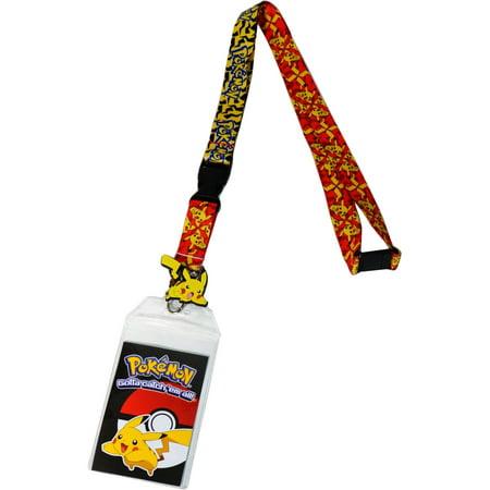 Pokemon Pikachu Attack Exclusive Lanyard with ID Badge Holder & Charm - Pokemon Lanyard