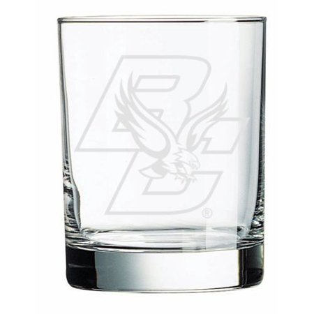 Boston College Eagles Deep Etched Double Old Fashion Glass