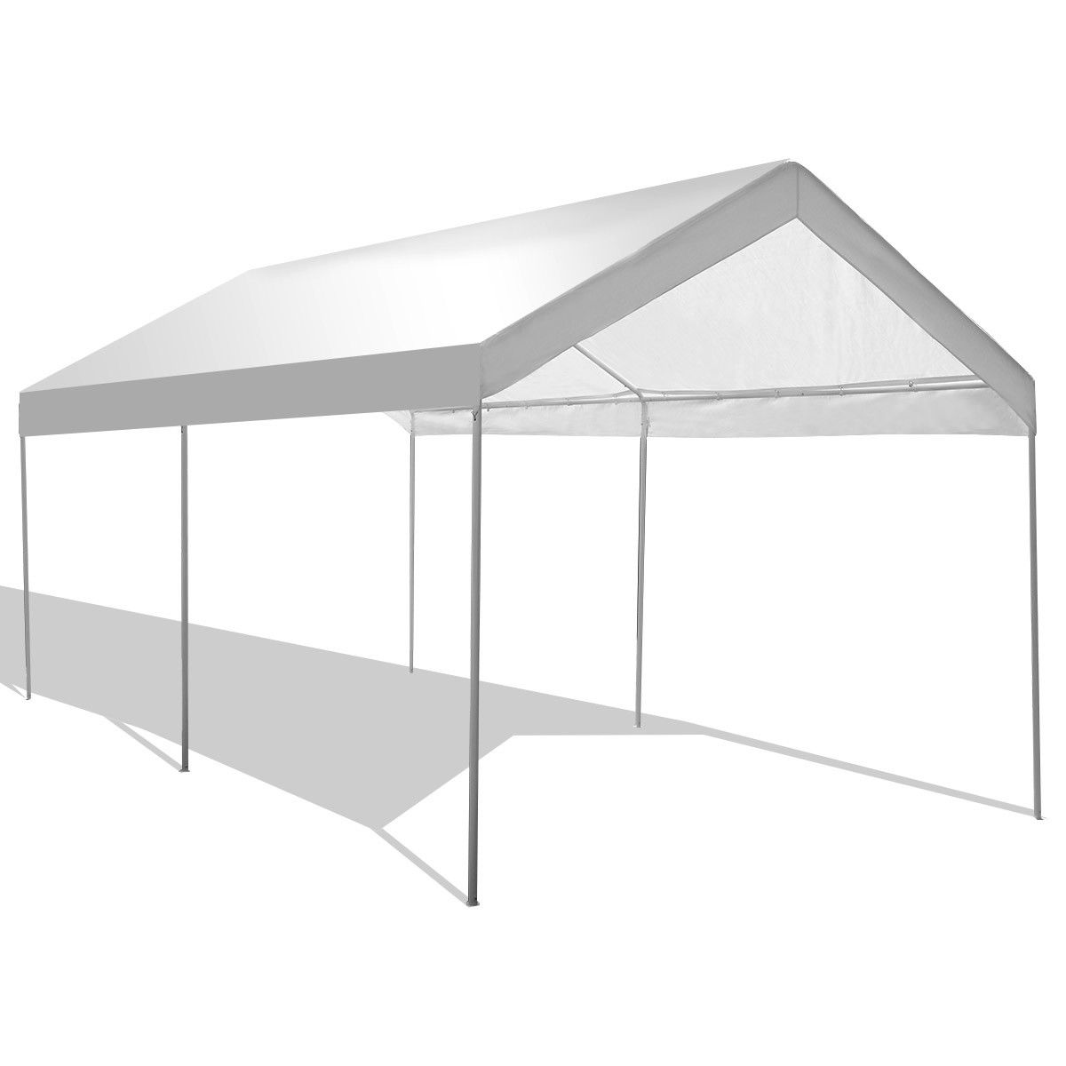 Gymax Steel Frame Party Tent Canopy Shelter Portable Car Carport Garage Cover - Walmart.com  sc 1 st  Walmart & Gymax Steel Frame Party Tent Canopy Shelter Portable Car Carport ...