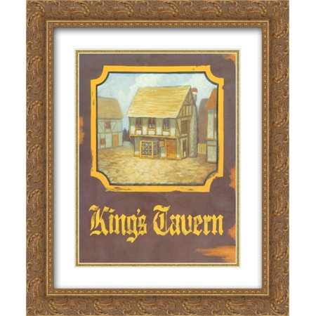 King's Tavern 2x Matted 15x18 Gold Ornate Framed Art Print by David Marrocco