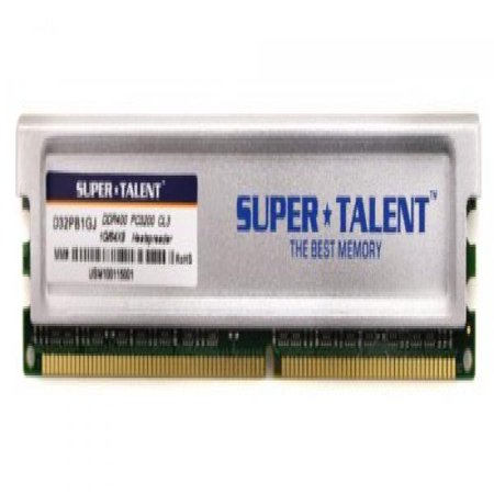 Super Talent DDR400 1GB/64X8 CL3 16CH Memory (PC and MAC G5) D32PB1GJ