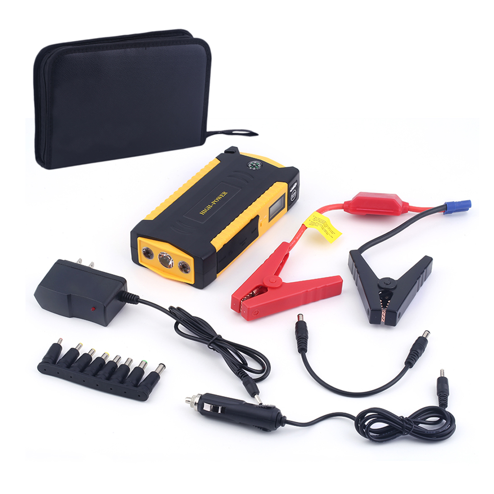 Professional 4 USB Port LCD Display Car Auto Jump Starter...