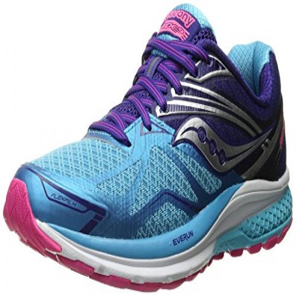 Saucony Women's Ride 9 Running Shoe, Navy Blue Pink, 7.5 M US by Saucony