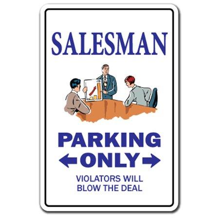 SALESMAN Decal sales selling sold parking Decals car equipment travelling   Indoor/Outdoor   12