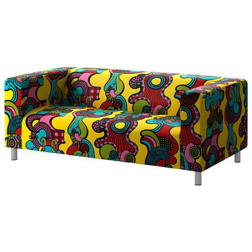Removable Sofa Slipcover Cover Fits Only For Ikea Klippan Sofa , Multicolor