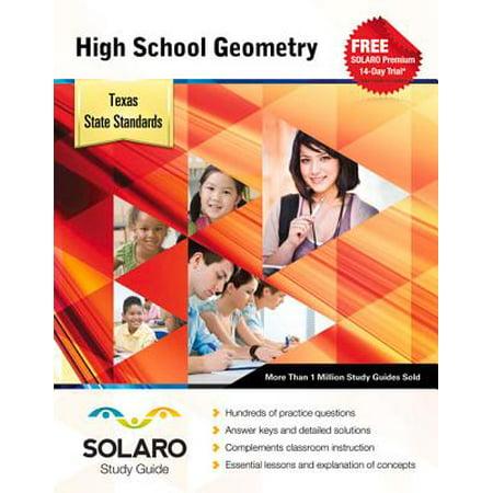 High School Geometry, Texas State Standards