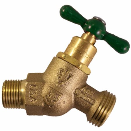 261LF 0.5 in. Male Iron Pipe x 0.75 in. Hose Connection, No Kink Hose Bibb - image 1 de 1