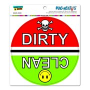 Clean Dirty Dishes Dishwasher Kitchen - Circle MAG-NEATO'S(TM) Car/Refrigerator Magnet