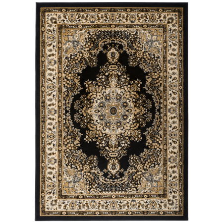 Antep Rugs Siesta Collection 011 Traditional Oriental Polypropylene Indoor Area Rug Black Beige 5
