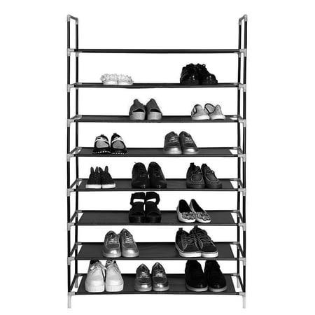 Zimtown New 32 Pairs Shoe Rack 8 Tier Shoe Storage Shelves Organiser Shelf Holder Stand