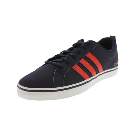 Adidas Men's Vs Pace Collegiate Navy / Core Red Footwear White Ankle-High Leather Basketball Shoe -