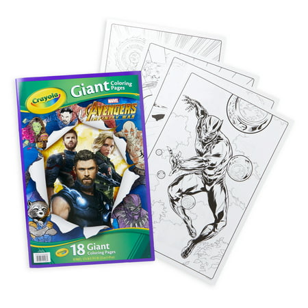 Winter Coloring Sheet (Crayola Avengers Giant Coloring Pages, 18 Sheets For Ages)