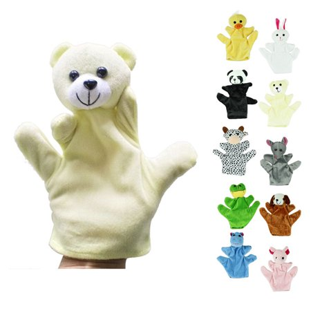 Plush Farm (Baby Child Zoo Farm Animal Hand Glove Puppet Finger Sack Plush Toy )