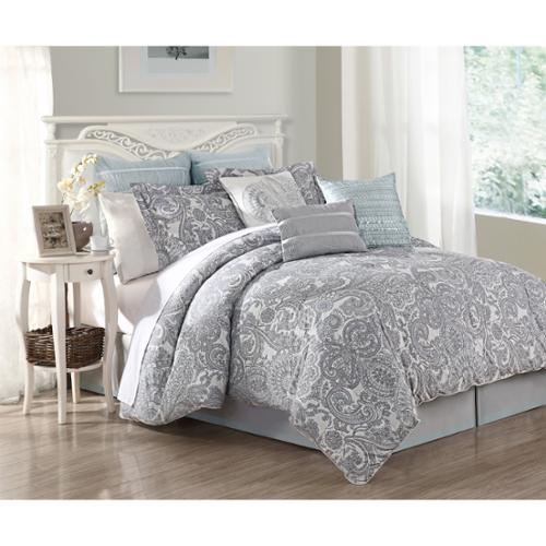 Luxe Lavender 9-piece Comforter Set Queen