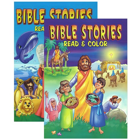 New 402575 Bible Stories Coloring Book (48-Pack) Coloring ...