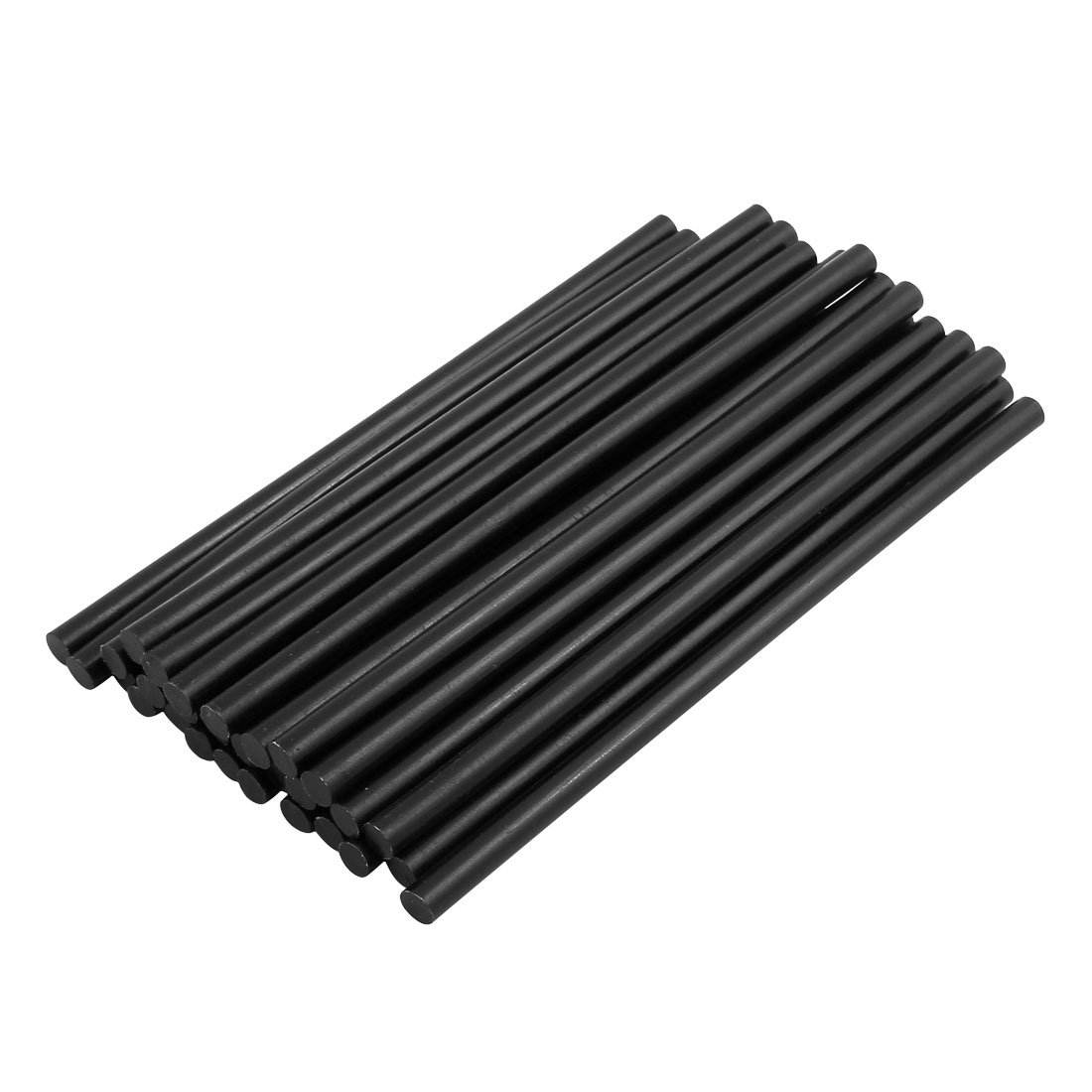 30 Pcs Black 7mm Diameter Soldering Iron Hot Melt Glue Stick 168mm Length