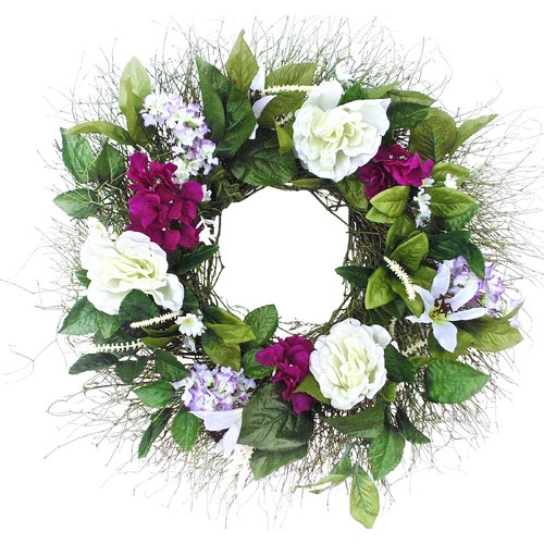 Dried Flowers and Wreaths LLC 22'' Mixed Floral Wreath