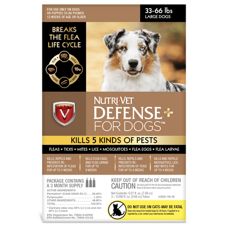 - Nutri-Vet K9 Defense Plus for Dogs Flea & Tick and More Large 33 pounds to 66 Pounds