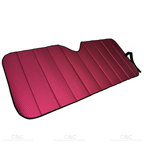 """Motor Trend Front Windshield Sunshade - Pink Accordion Folding Auto Shade for Car Truck SUV 58"""" x 24"""""""
