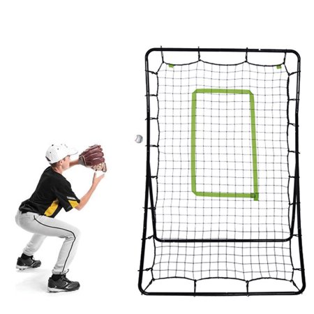 Zimtown Youth Pitching Return Baseball Fielding Training Net, for Softball, Ground Ball,Line Drive & Fly Balls Pitchback Rebound Throwing Various Sports Practice Different Angels, Steel Construction