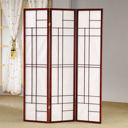 COASTER Cherry Finish Room Divider Item 900110