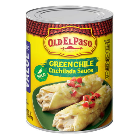 (2 Pack) Old El Paso Mild Green Chile Enchilada Sauce, 28 (Authentic Red Enchilada Sauce)