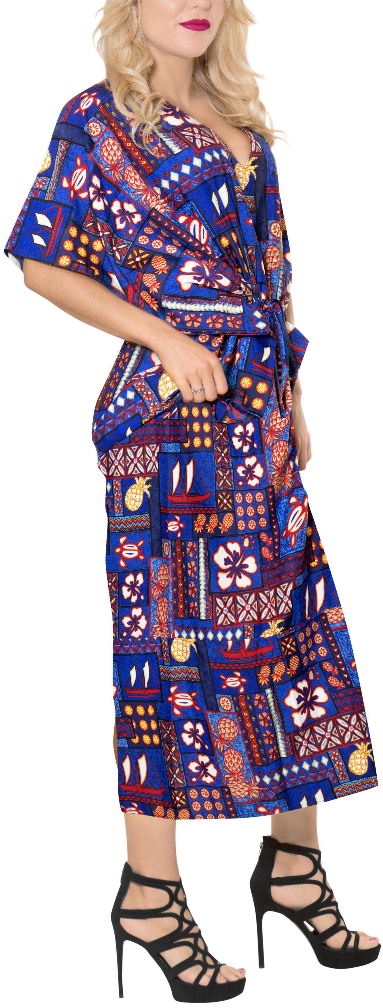 832622b212df HAPPY BAY - Ladies Hawaiian Plus Size Dress Evening Kaftan For Womens Long  Maternity Maxi Caftan WM_Blue_F244 - Walmart.com