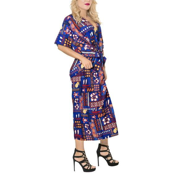 2232f773b1c3 HAPPY BAY - Ladies Hawaiian Plus Size Dress Evening Kaftan For ...