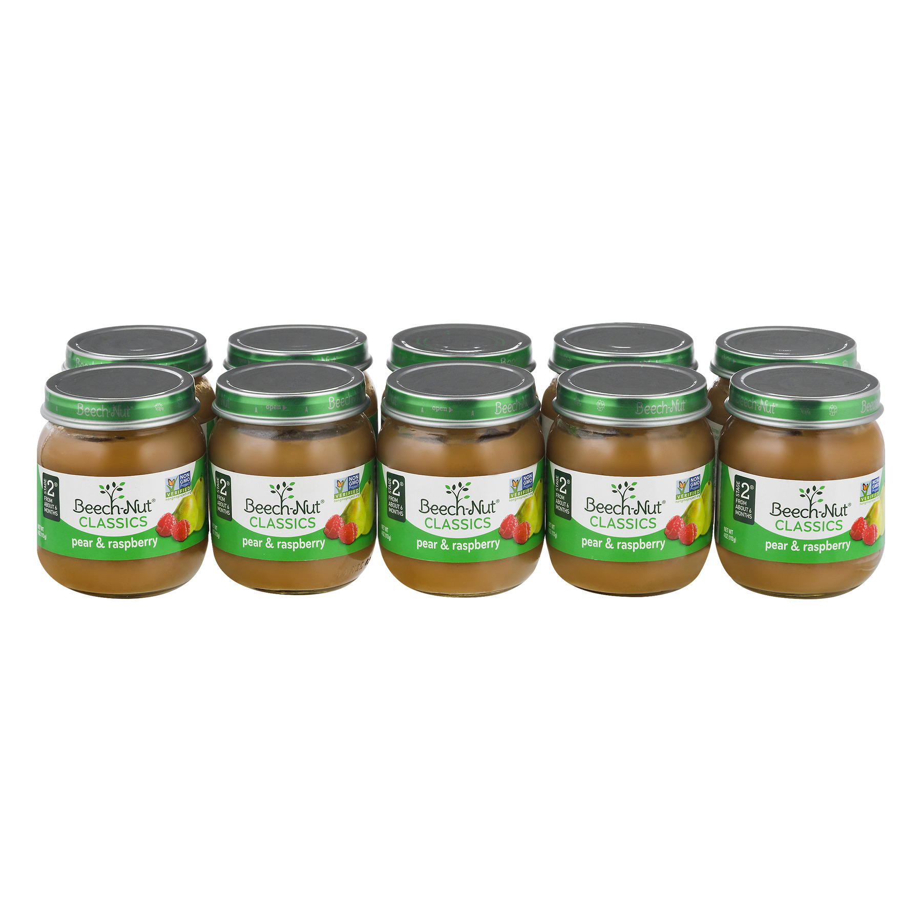 Beech-Nut Classics Pear & Raspberry Stage 2 - 10 PK, 10.0 PACK