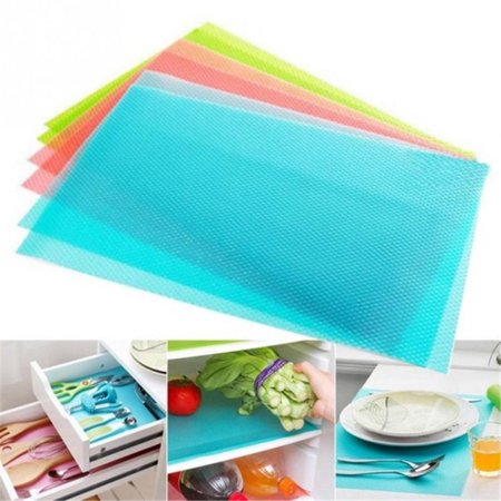 4 Pack Refrigerator Liners,Refrigerator Mats Washable Fridge Mats Waterproof Fridge Pads Mat Shelves Table Drawer Liners- 17 3/4
