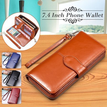 Print Large Wallet (Grtsunsea Fashion PU Leather Wallets For Women Large Capacity Phone Wallet Handbag Clutch Bag Long Card Holder Zipper)