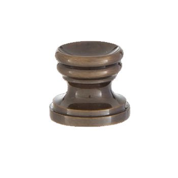 B&P Lamp® Cup Shaped Design, Base Only Finial, Antique Brass (Shaped Antique Brass Lamp Finial)