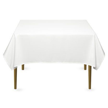 Lann's Linens - Square Premium Tablecloth for Wedding / Banquet / Restaurant - Polyester Fabric Table Cloth (Multiple Colors) ()