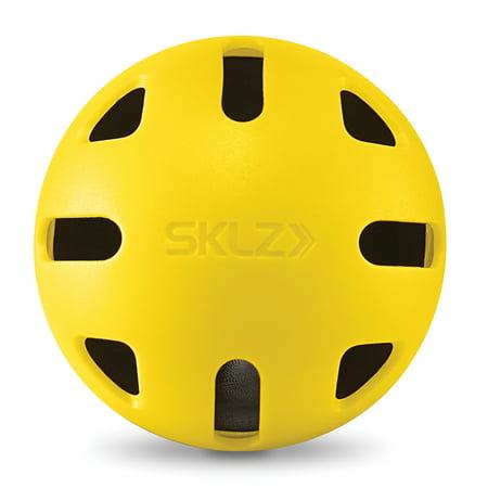 SKLZ Heavy Duty Impact Balls, Baseballs - Pack of 6 - Plastic Baseballs Bulk