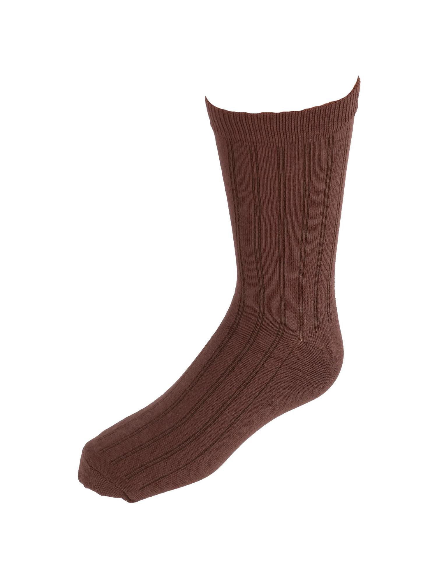 Kids' Cotton Ribbed Uniform Crew Socks