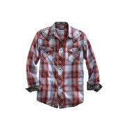 Tin Haul Western Shirt Mens L/S Plaid Snap Red 10-001-0062-0233 RE