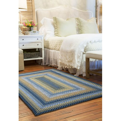 Homespice Decor Cotton Braided Sunflowers Area Rug