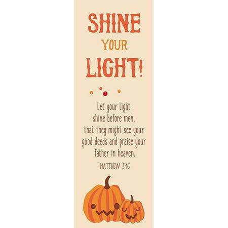 Bookmark-Bible Basics-Shine Your Light! (Pack Of 10) - Homemade Halloween Bookmarks
