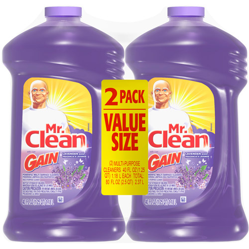Mr. Clean Multi-Surface Cleaning Liquid with Lavender Scent, 40 oz
